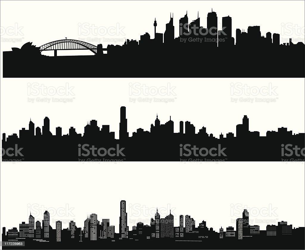 City skylines vector art illustration