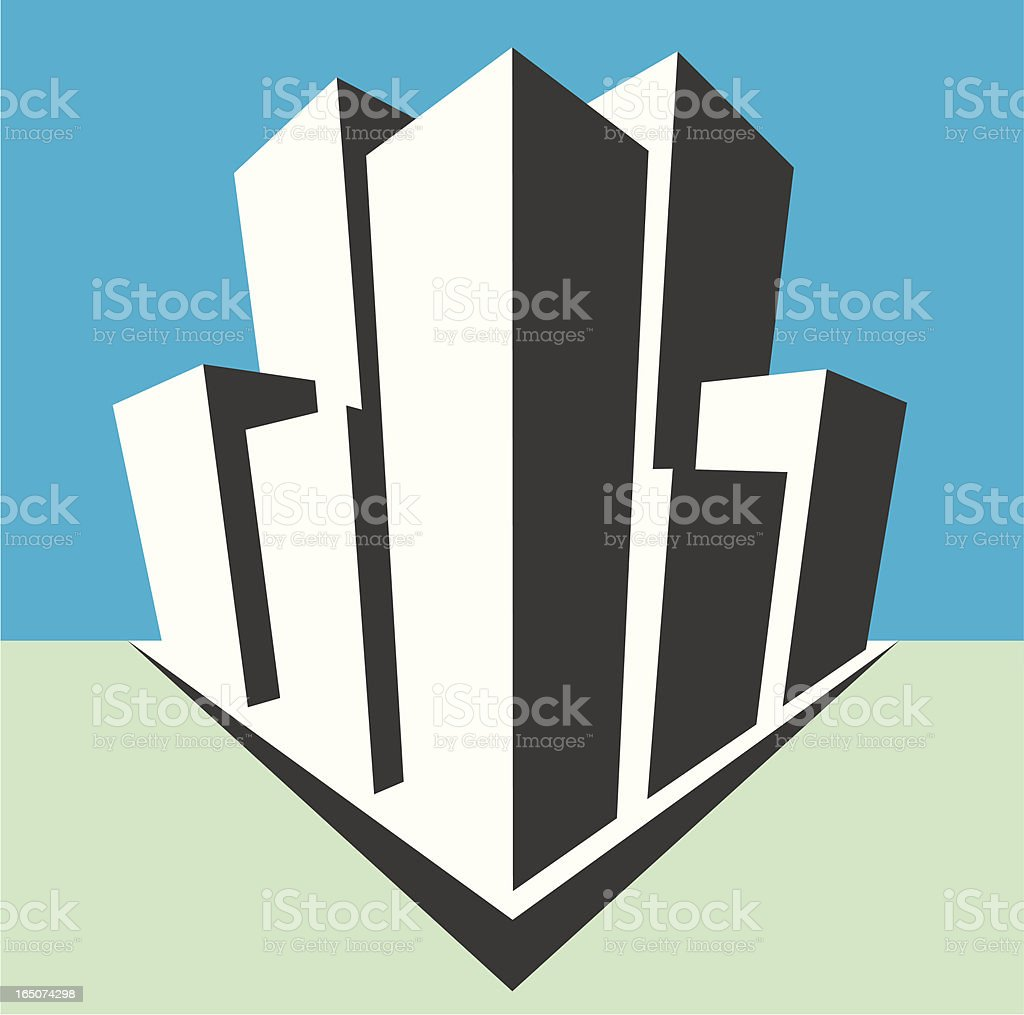 city skyscrapers royalty-free stock vector art