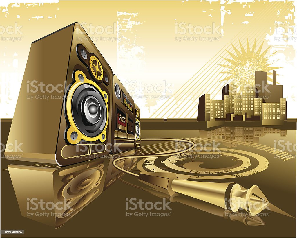 City & Sound royalty-free stock vector art