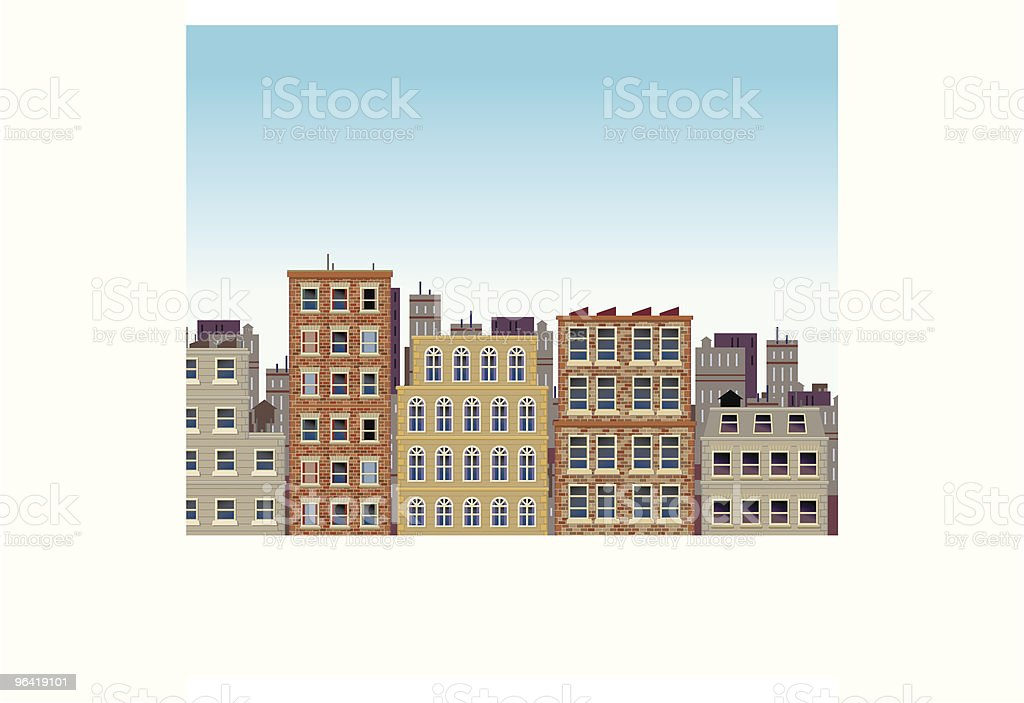 City Street Scene royalty-free stock vector art