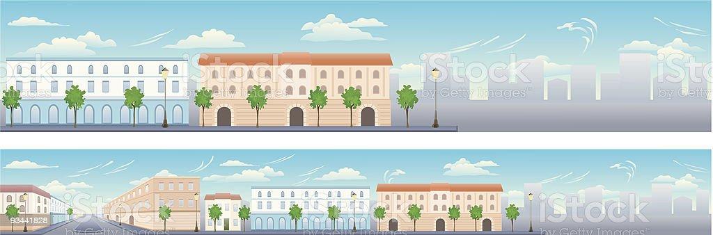City street vector art illustration