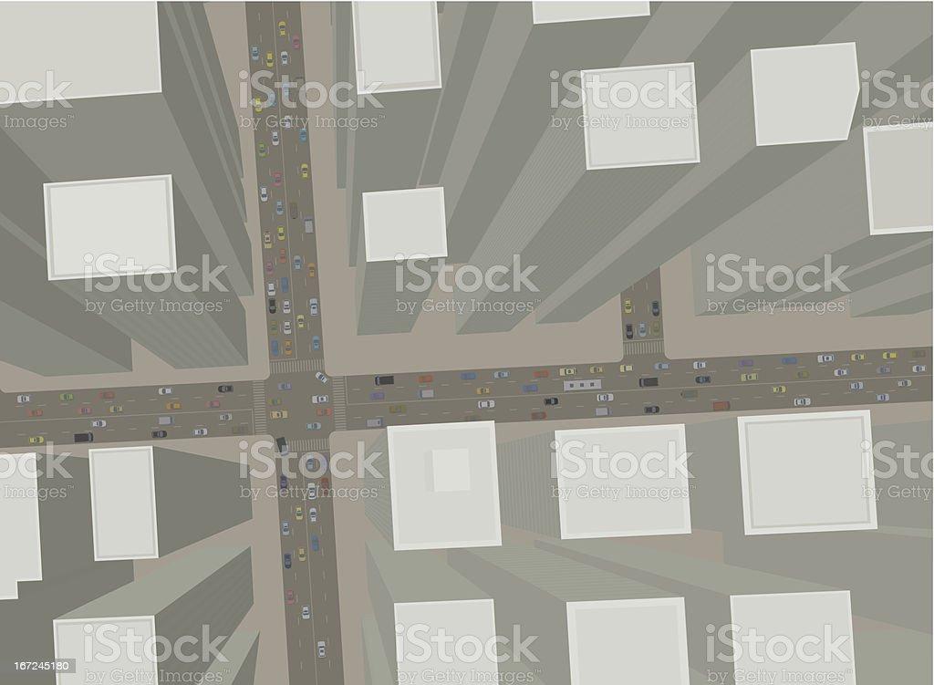 City streets vector art illustration