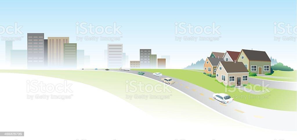 City Suburb Banner royalty-free stock vector art
