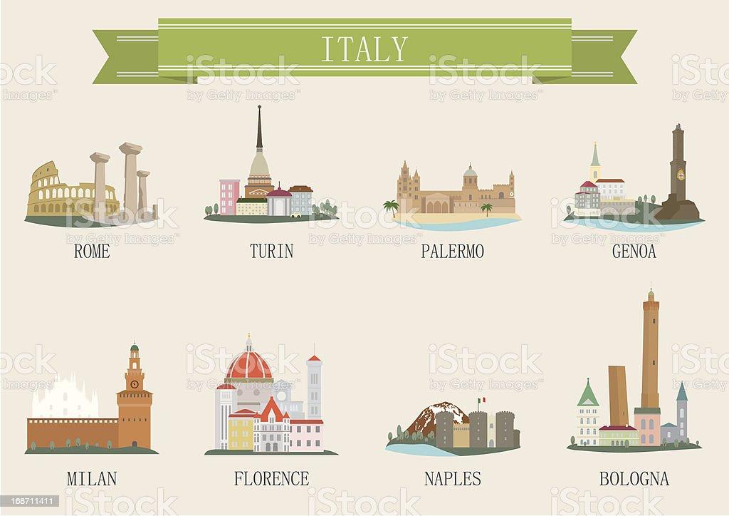 City symbol. Italy vector art illustration