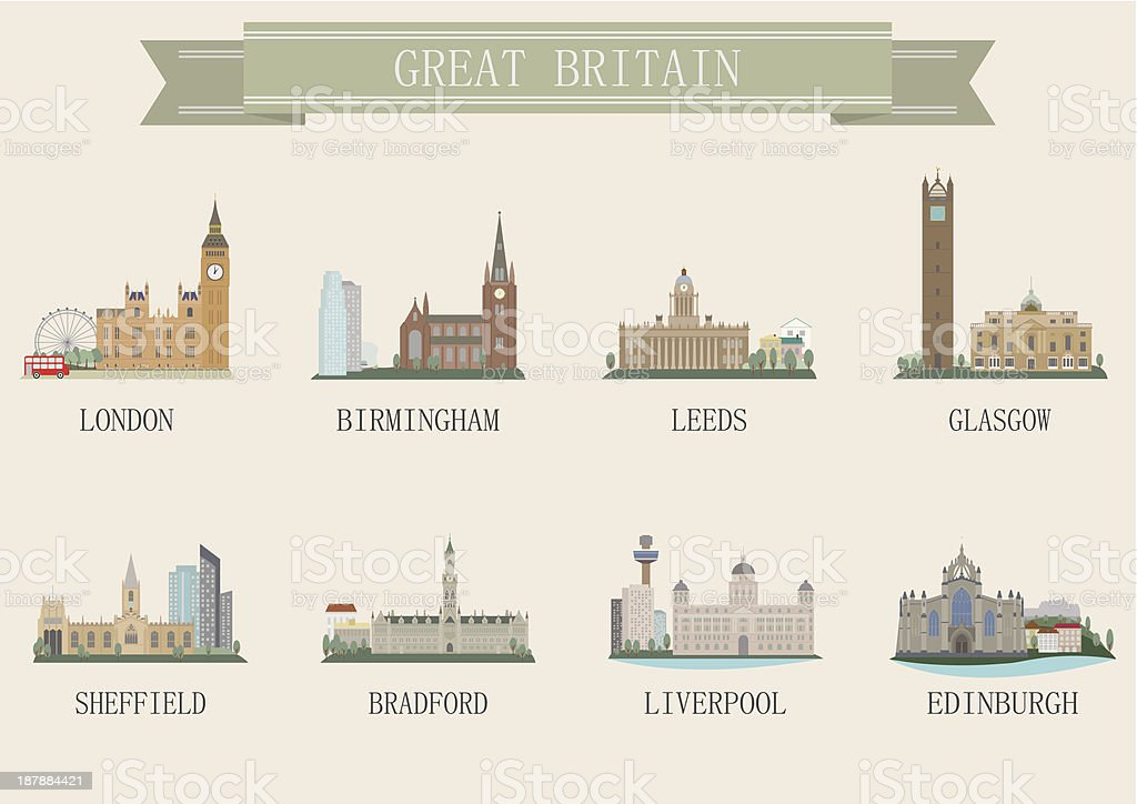 City symbol. UK royalty-free stock vector art