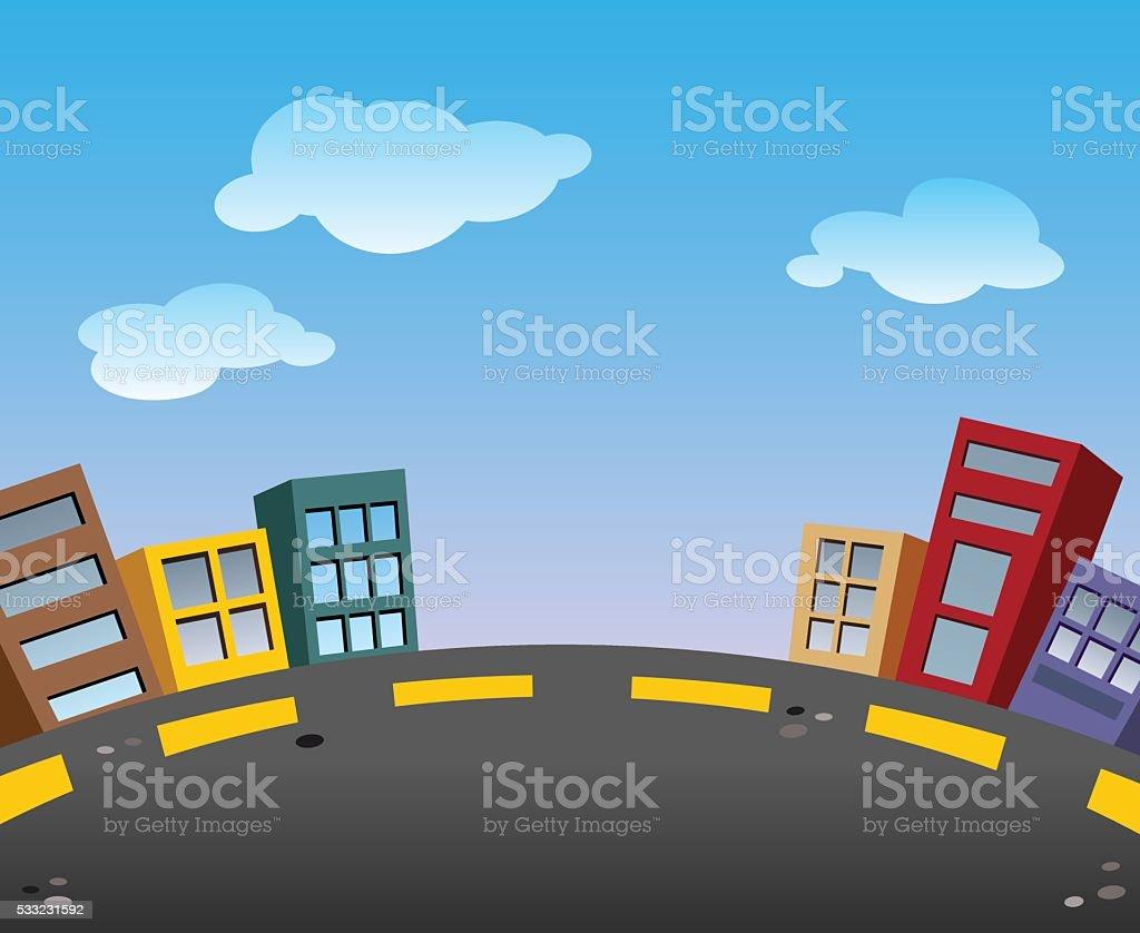 City to City vector art illustration
