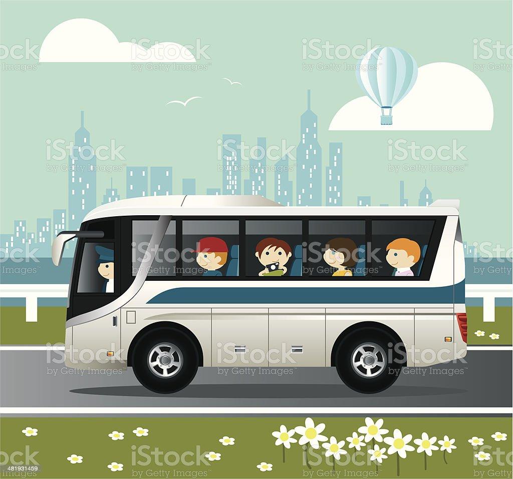 City Tour vector art illustration