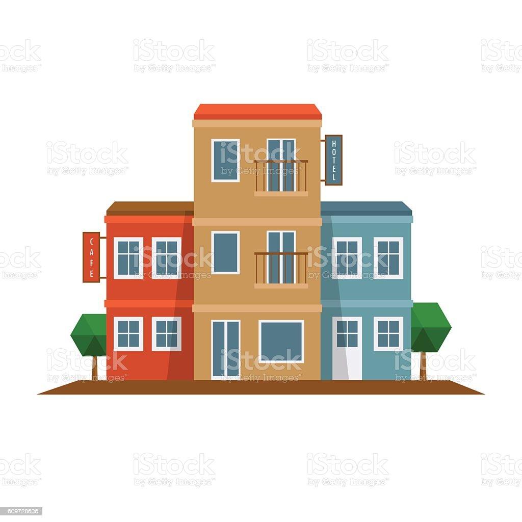 City tourism icon. vector art illustration