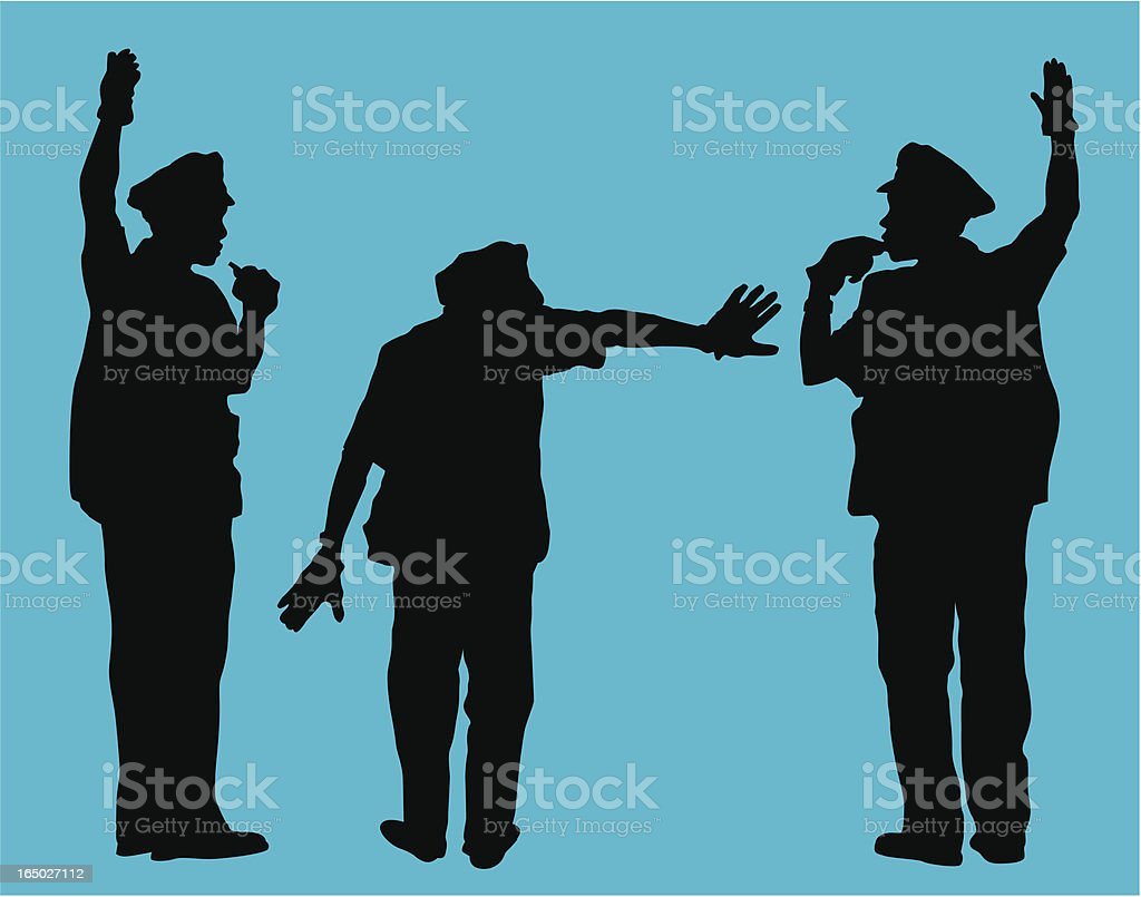 City Traffic Cop  ( Vector ) royalty-free stock vector art