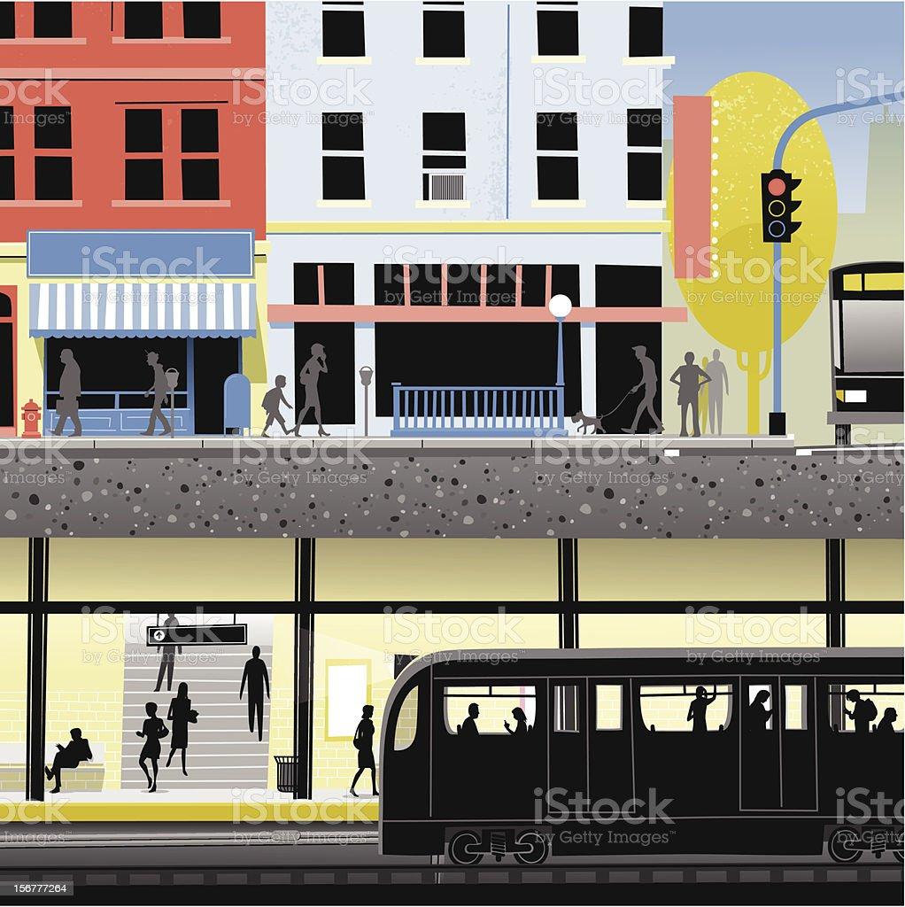 City Underground vector art illustration