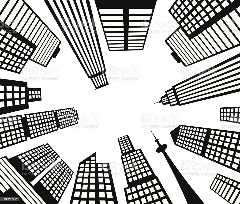 city up view vector art illustration