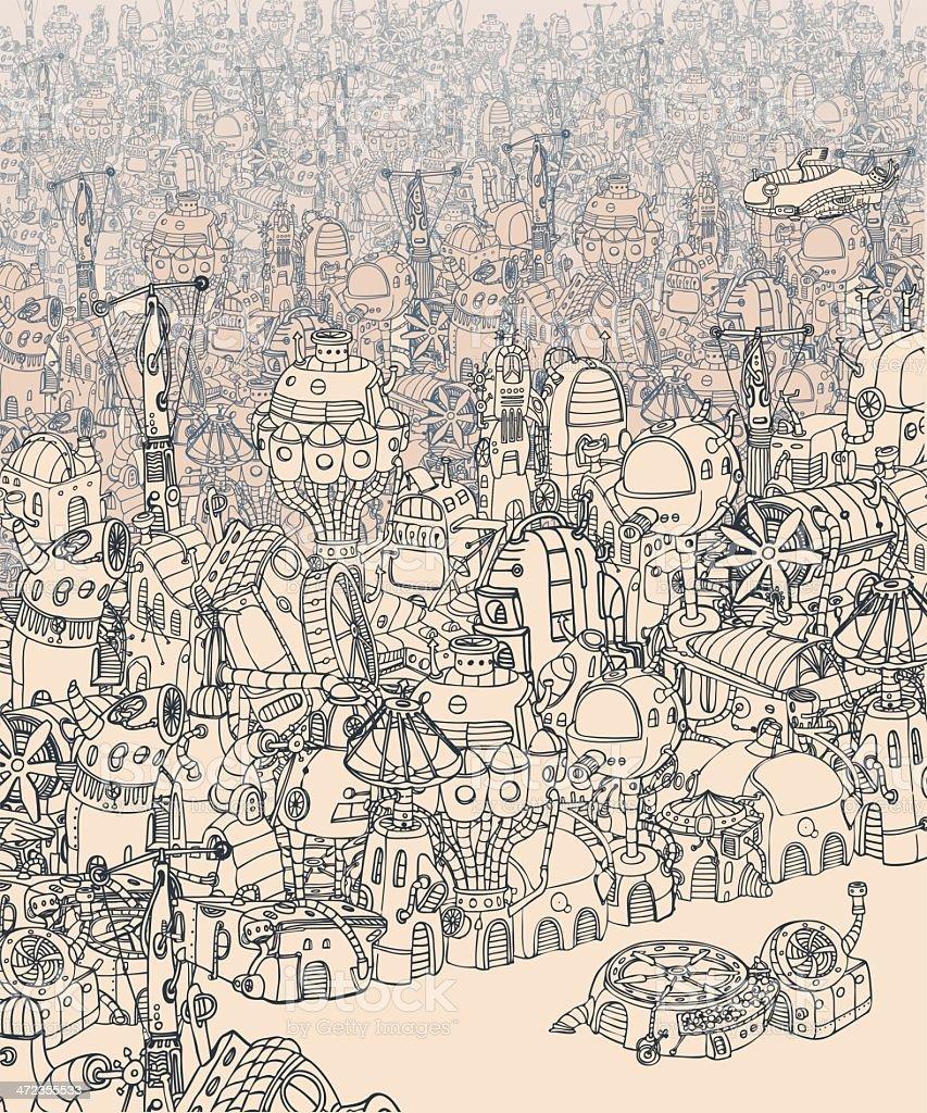 City. royalty-free stock vector art