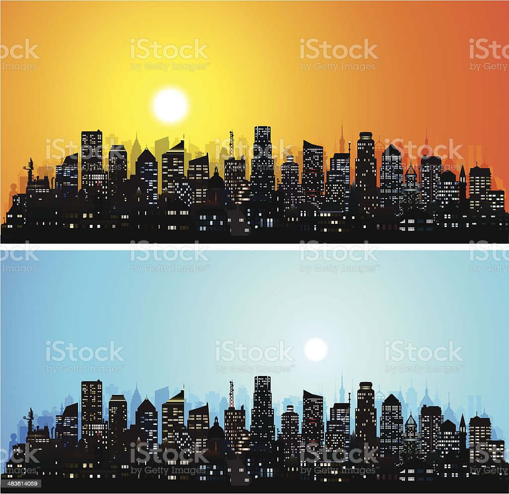 City (123 Highly Detailed Buildings) royalty-free stock vector art