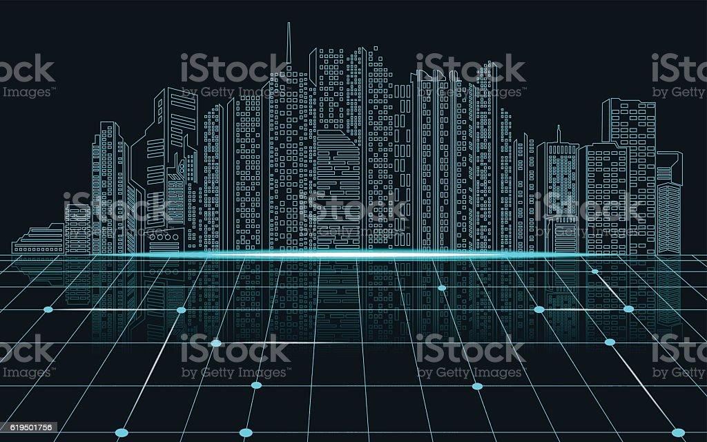 city vector art illustration