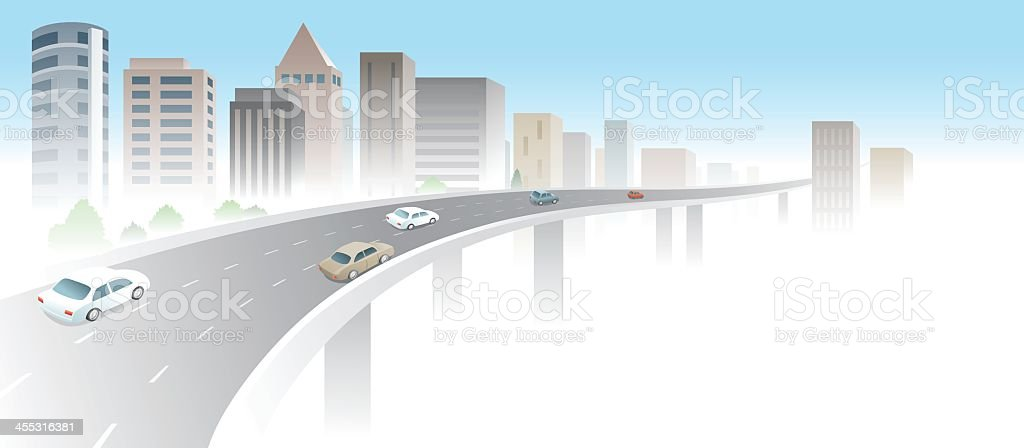 City Viaduct royalty-free stock vector art