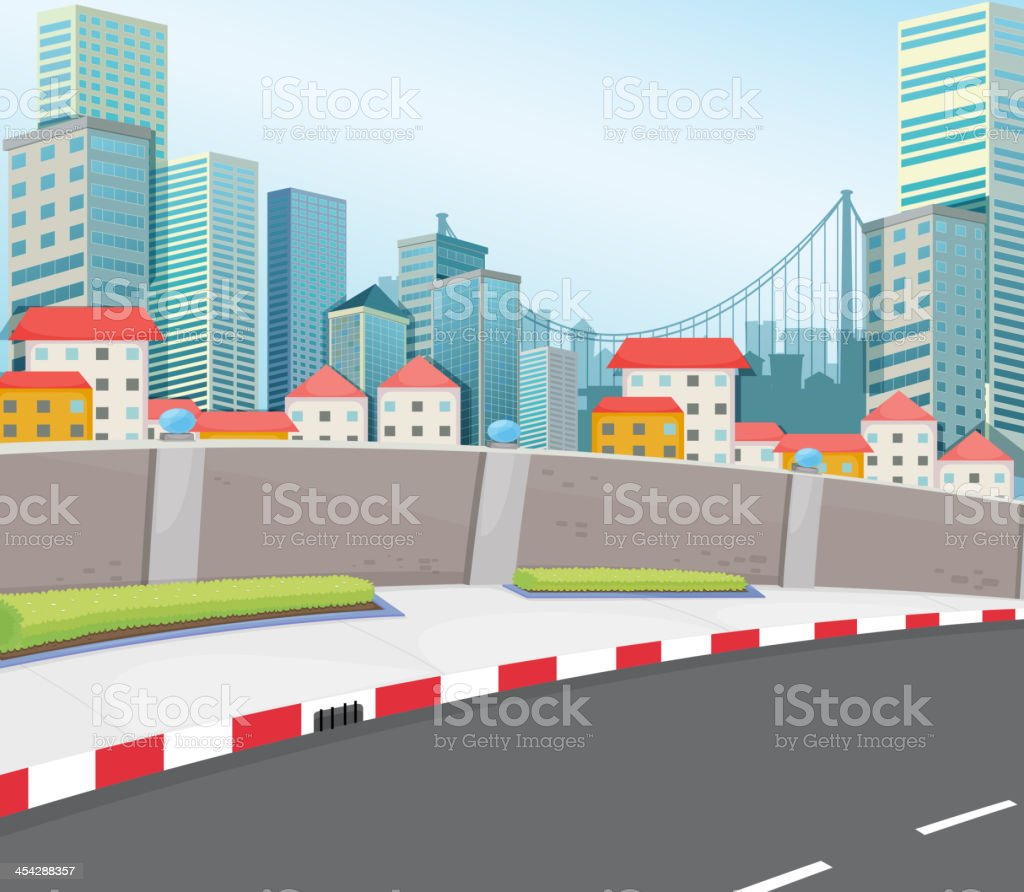 city with tall buildings royalty-free stock vector art