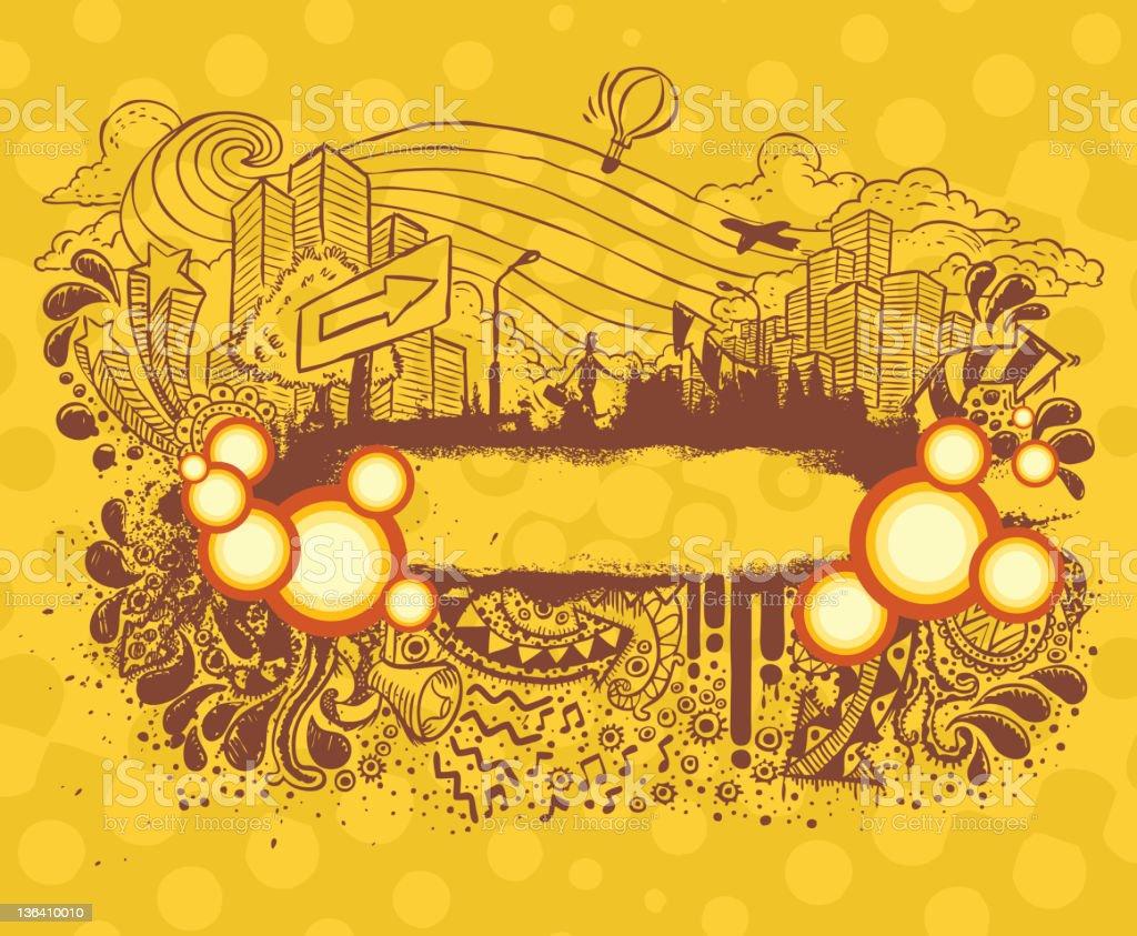 City-Life Banner vector art illustration