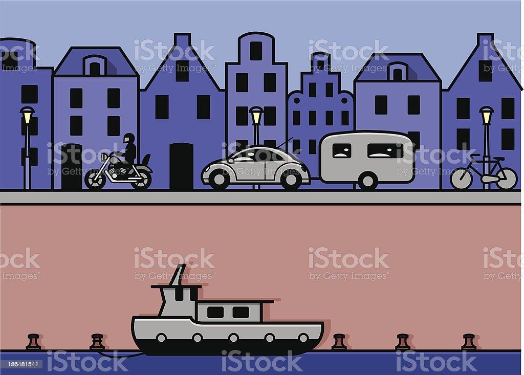 cityscape amsterdam royalty-free stock vector art