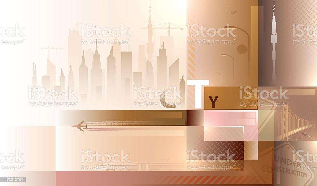 Cityscape background. vector art illustration