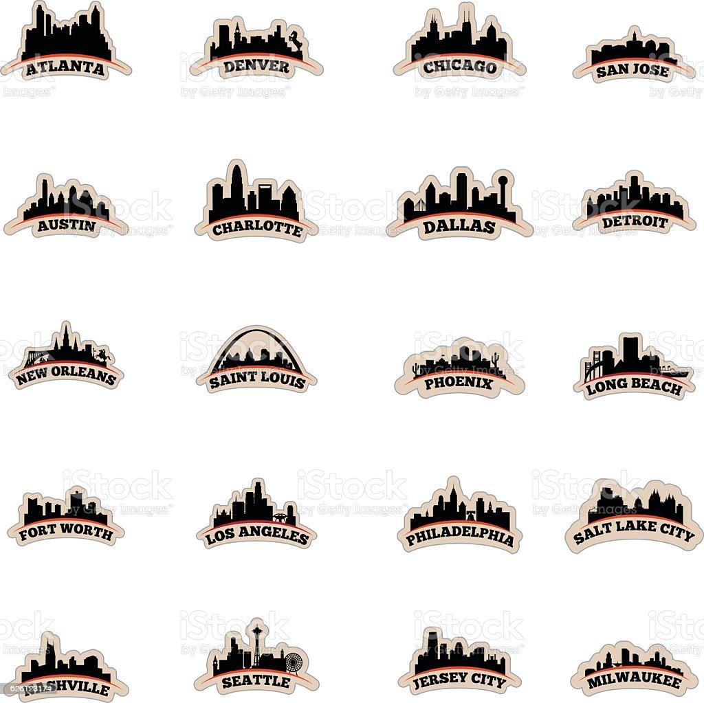 US Cityscape Graphics vector art illustration
