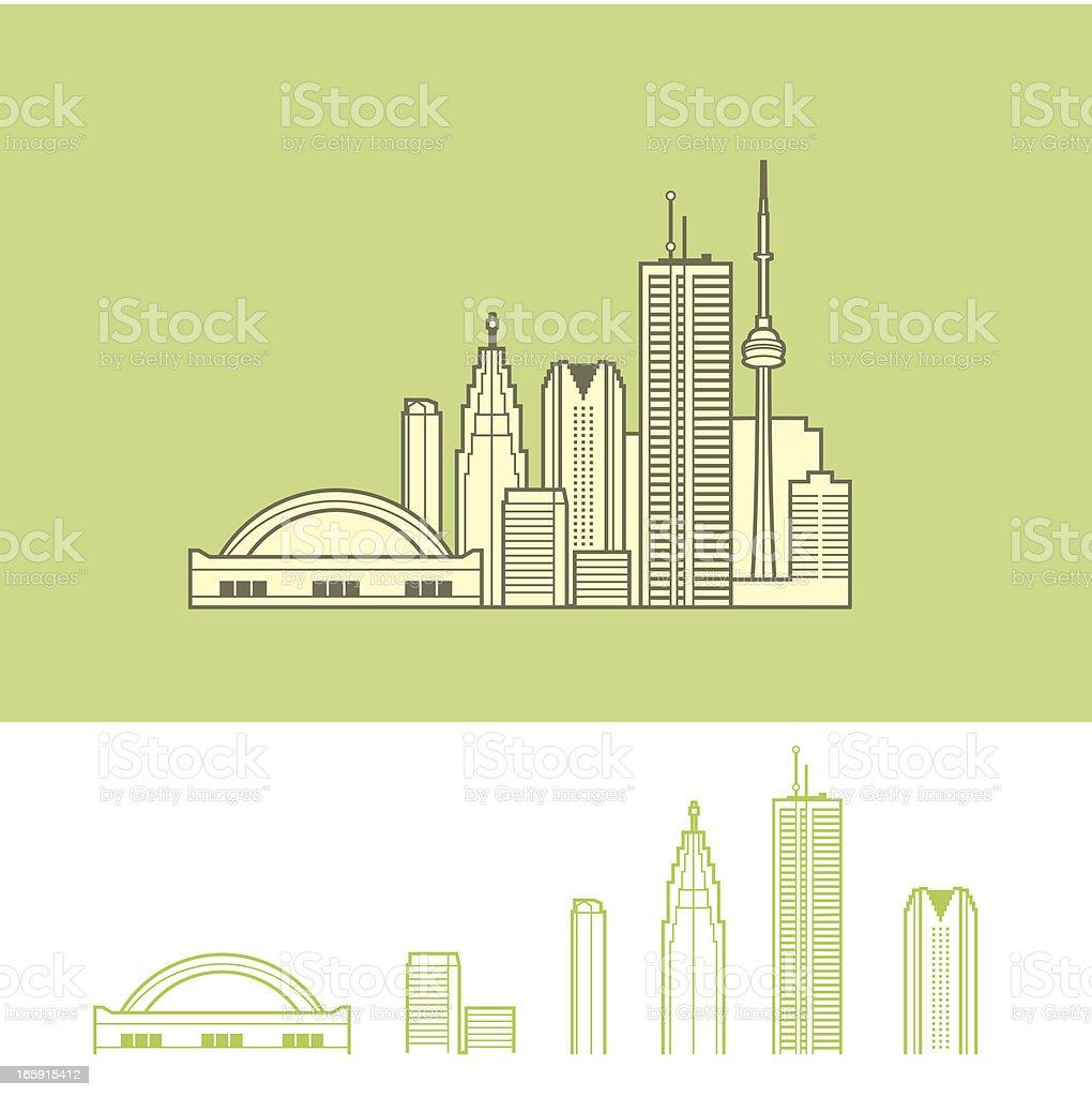 Cityscape of Toronto, Canada vector art illustration