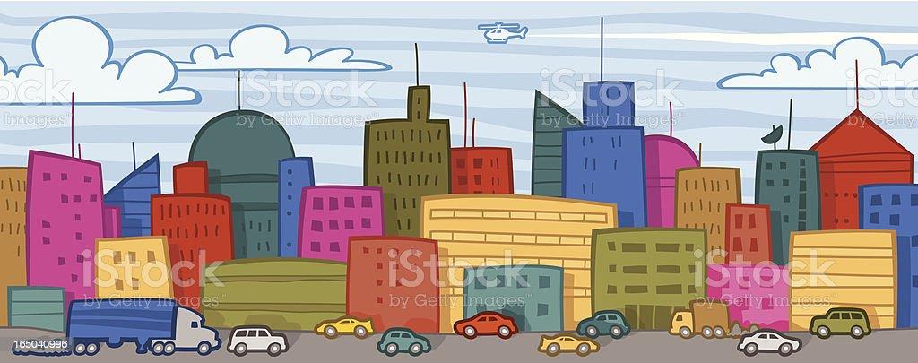 Cityscape & Traffic royalty-free stock vector art