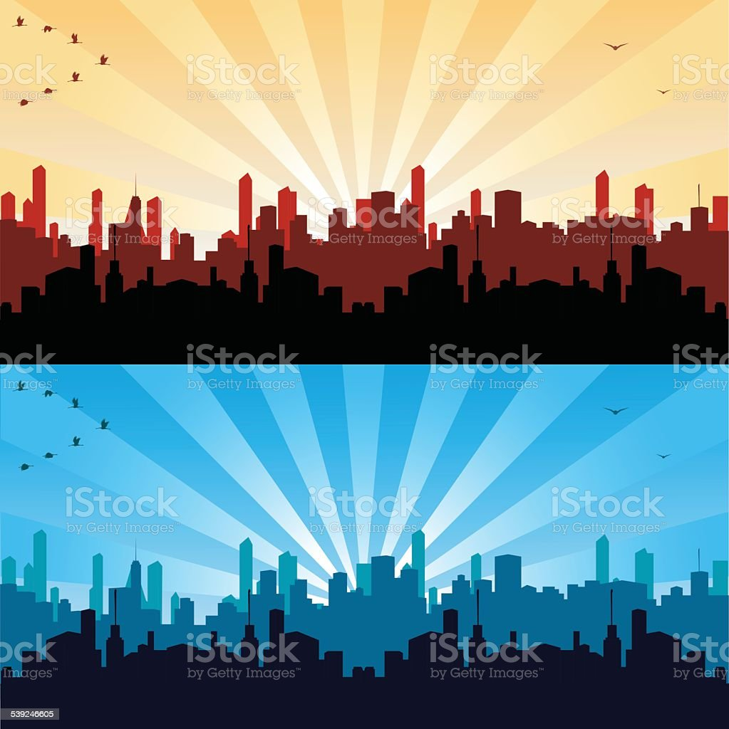 Cityscape vector art illustration