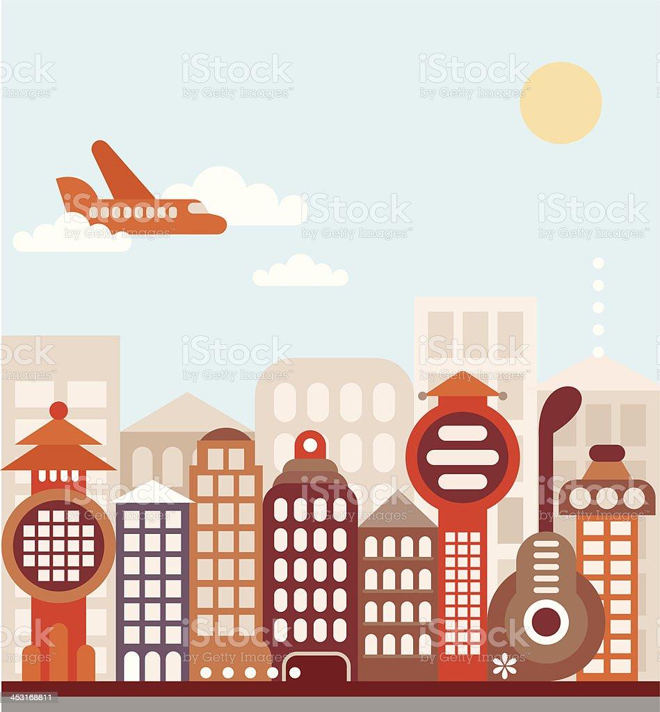 Cityscape vector illustration royalty-free stock vector art