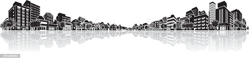 Cityscape Vector Illustration vector art illustration