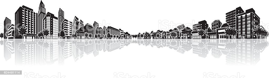 Cityscape Vector Illustration vector art illustration