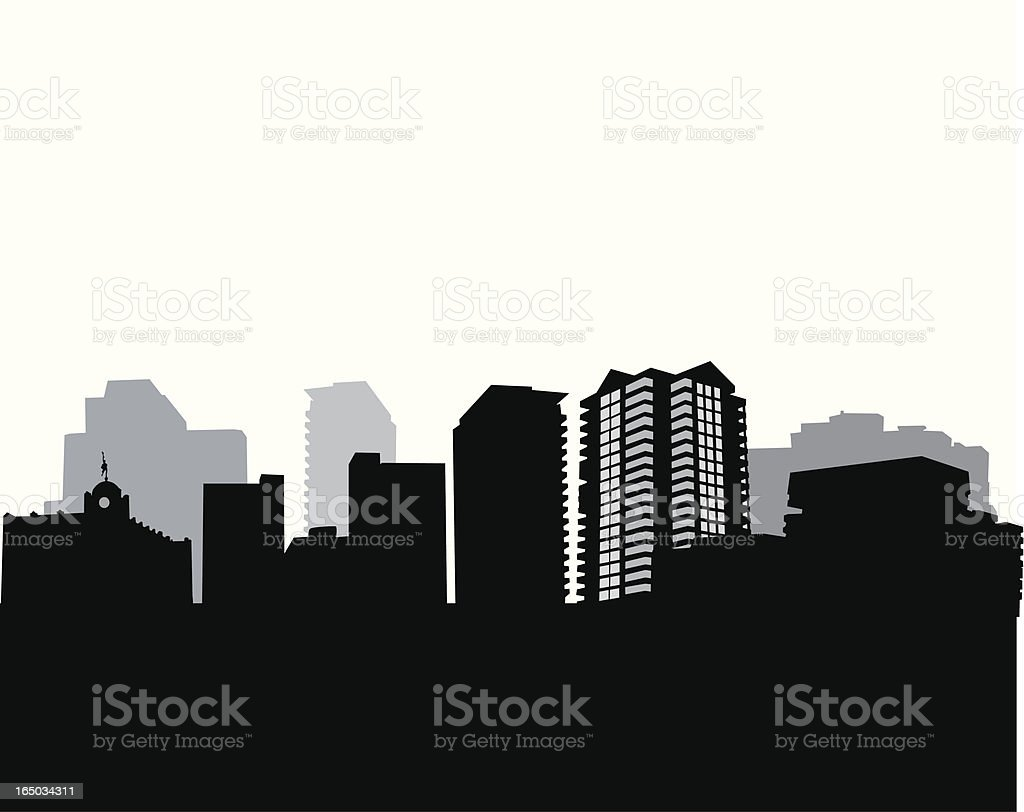 Cityscape Vector Silhouette royalty-free stock vector art