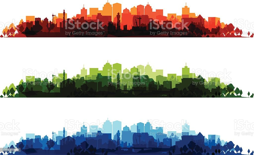 cityscapes vector art illustration