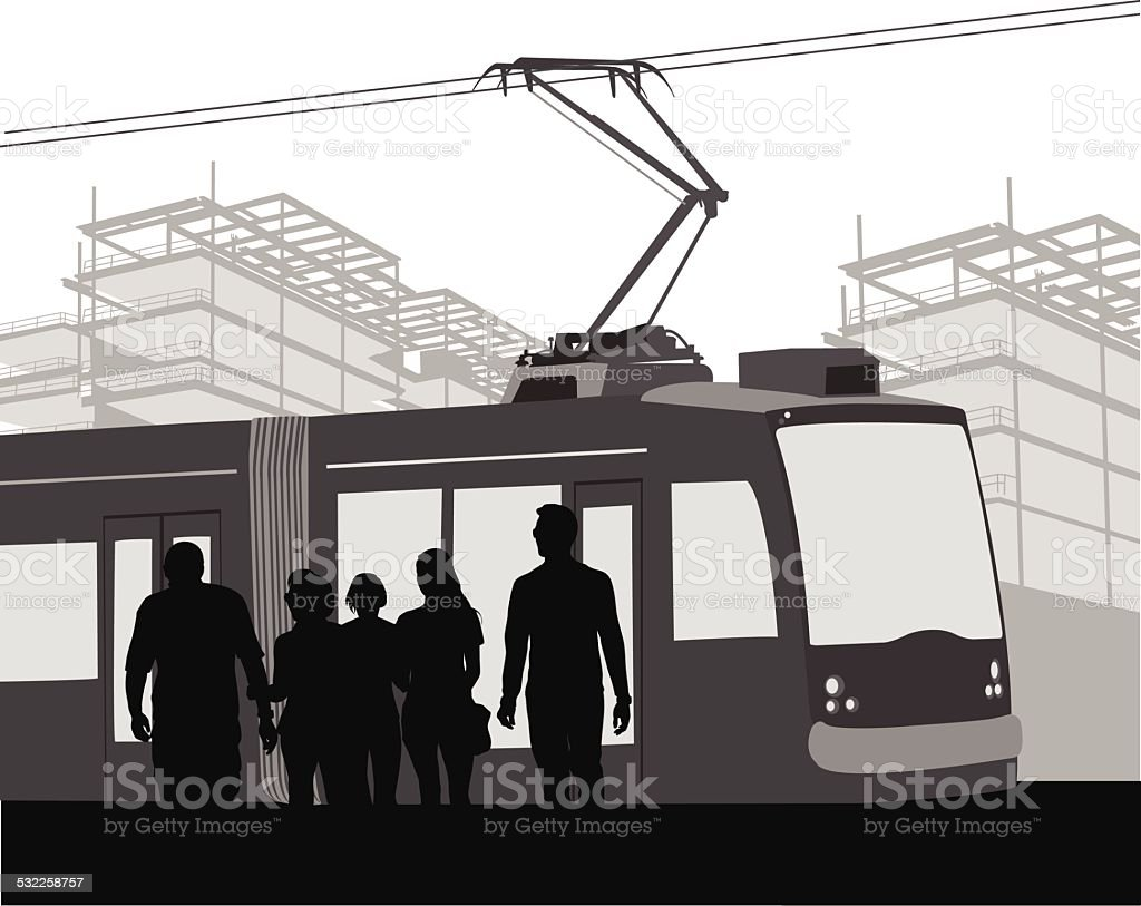 CityTransport vector art illustration