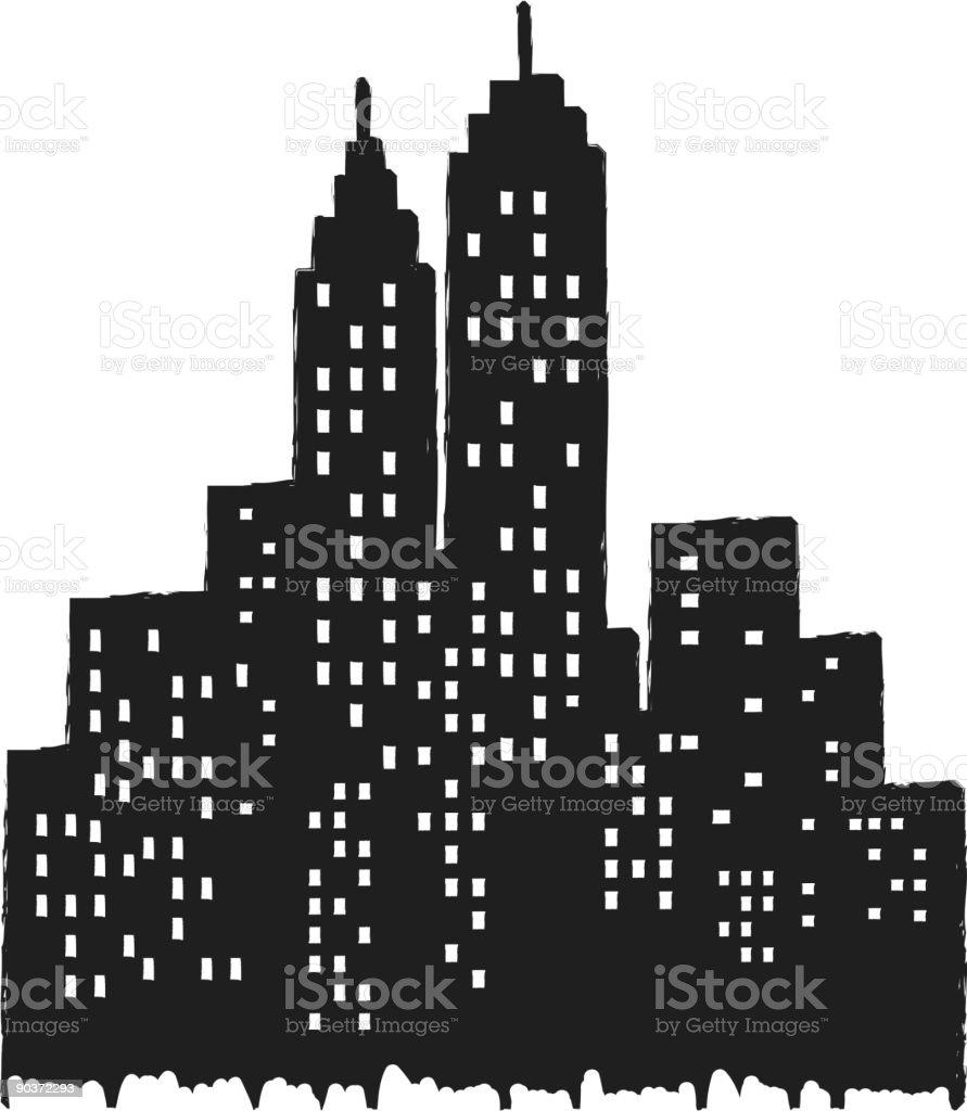 Cityview royalty-free stock vector art
