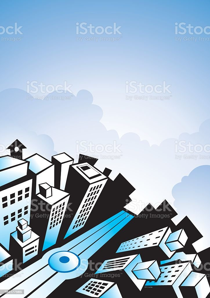 Ciudad royalty-free stock vector art