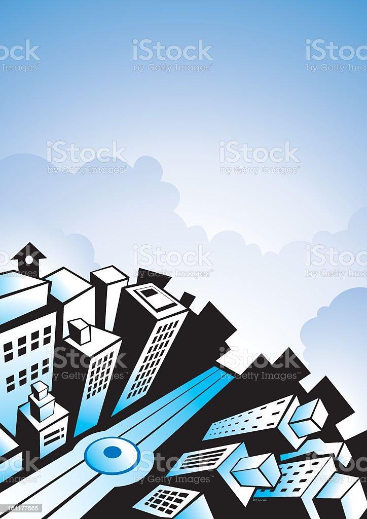 Ciudad vector art illustration