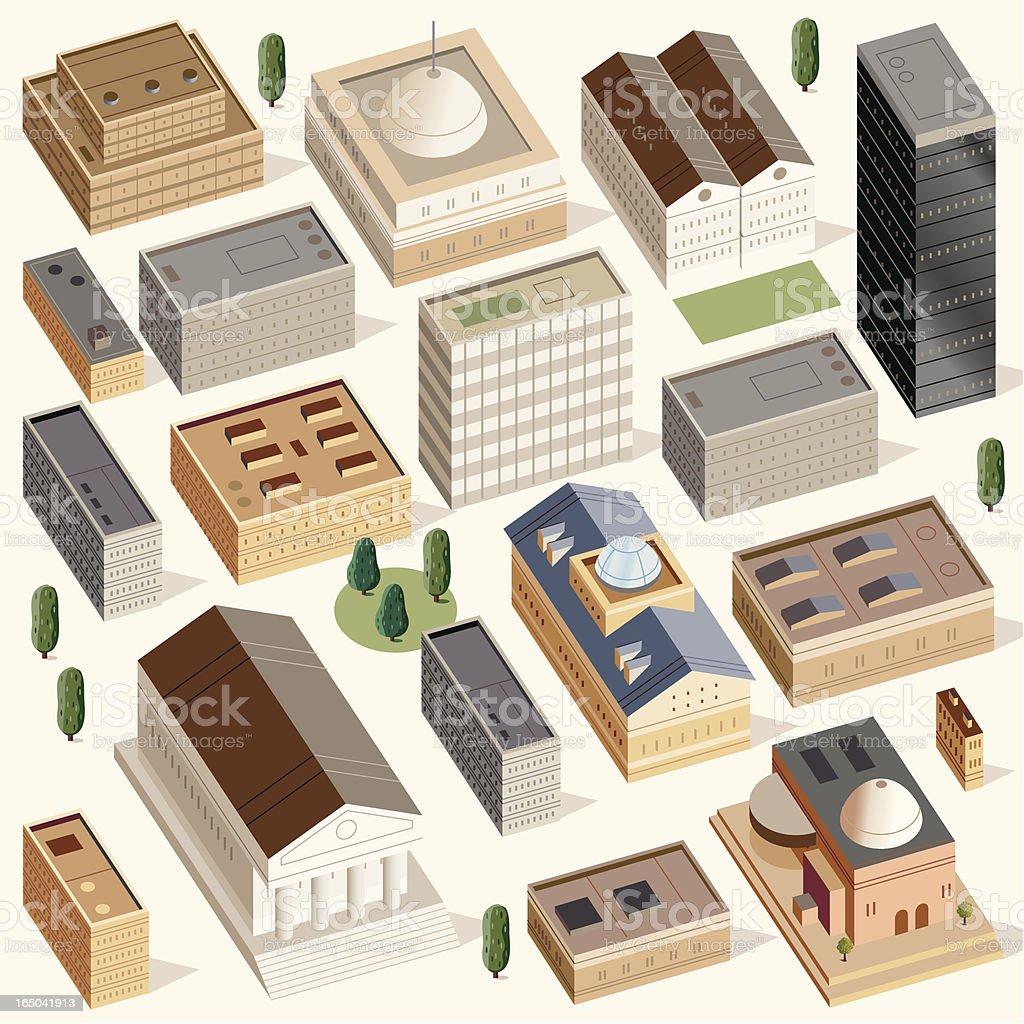 Civic Buildings royalty-free stock vector art