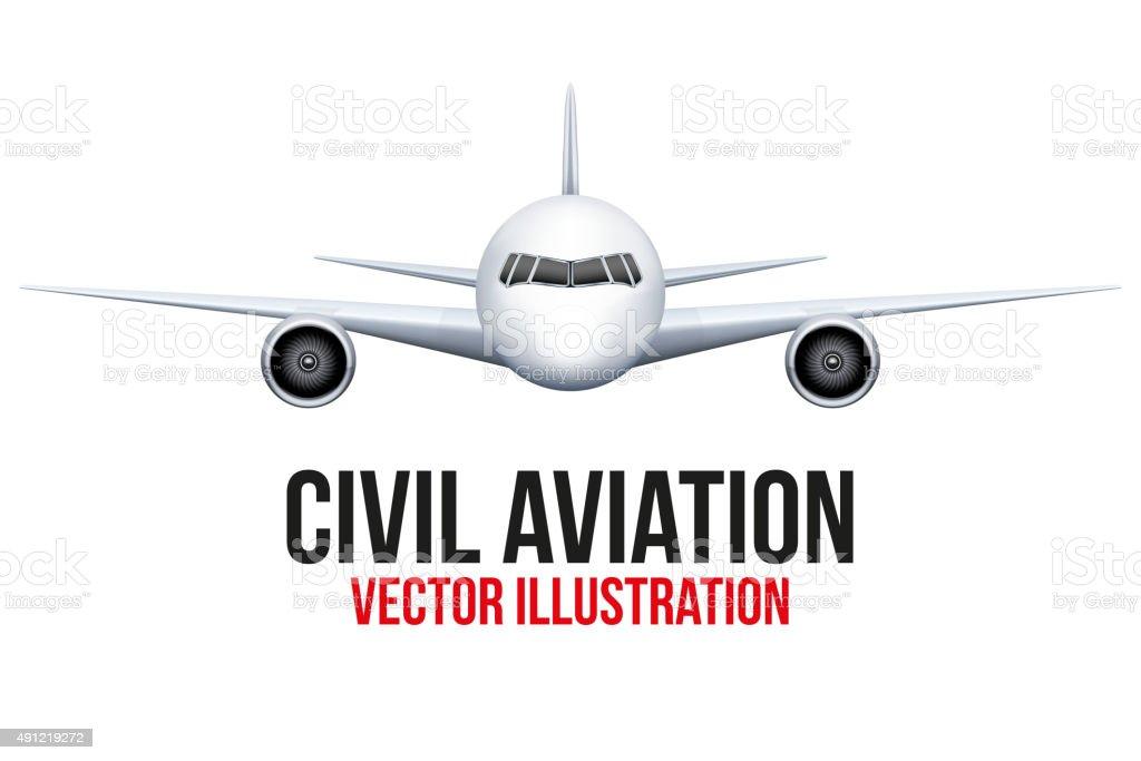 Civil Aircraft vector art illustration