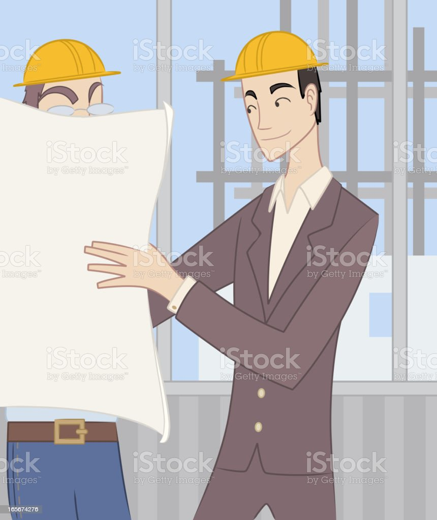 Civil Architect Structural Engineer Architectural Construction Planner royalty-free stock vector art