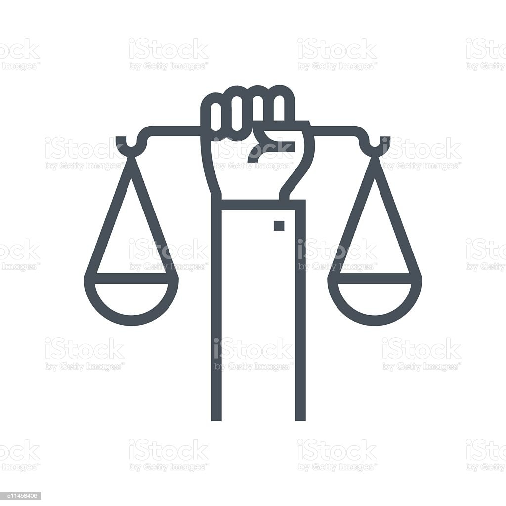 Civil rights icon vector art illustration