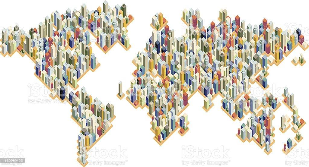 civilization vector art illustration