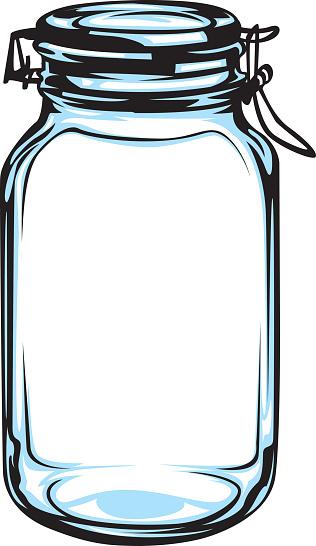 Mason Jar Clip Art, Vector Images & Illustrations - iStock