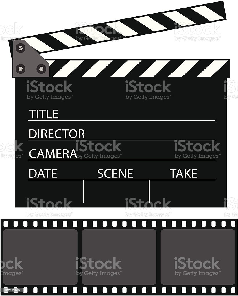 clapboard royalty-free stock vector art
