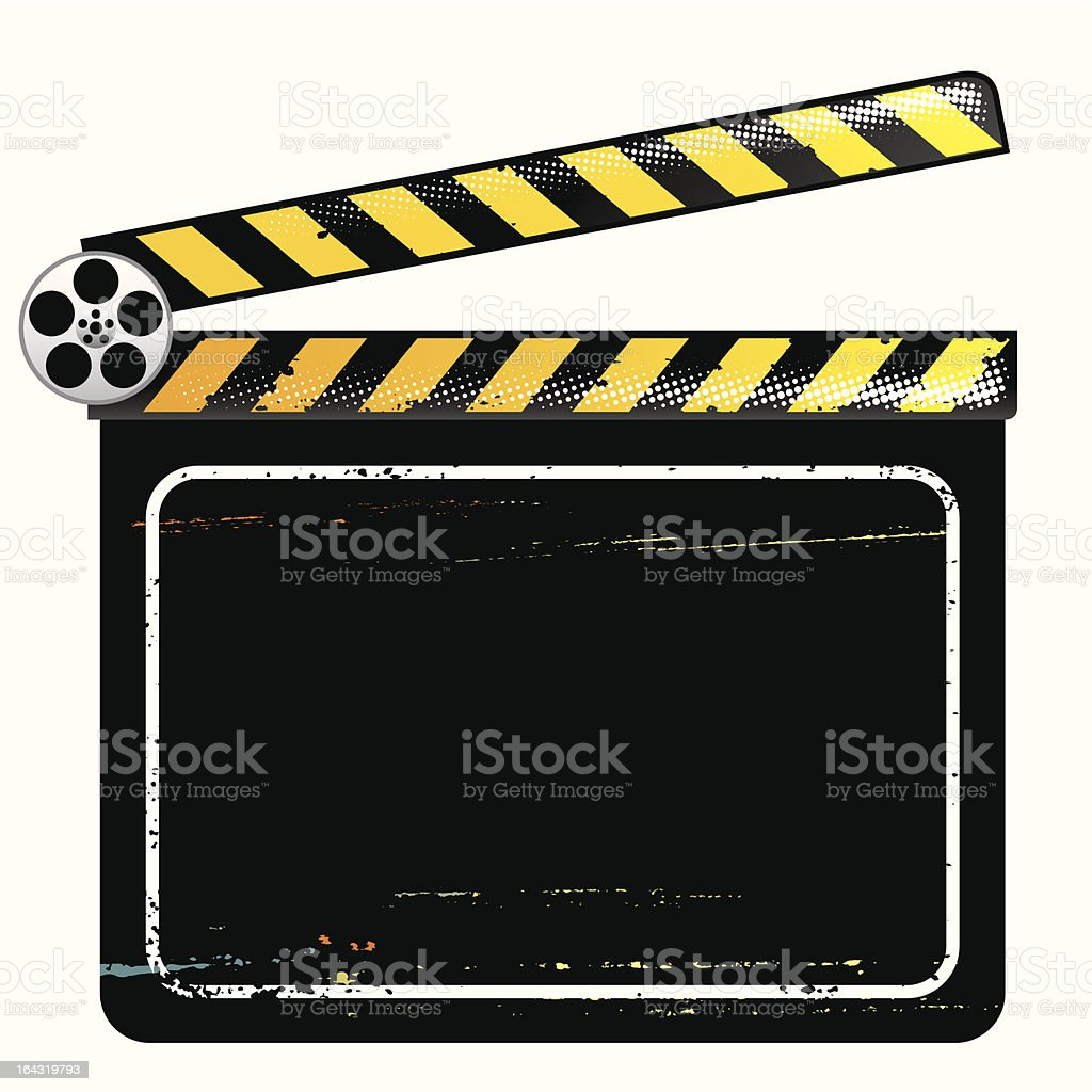 Clapper Board royalty-free stock vector art
