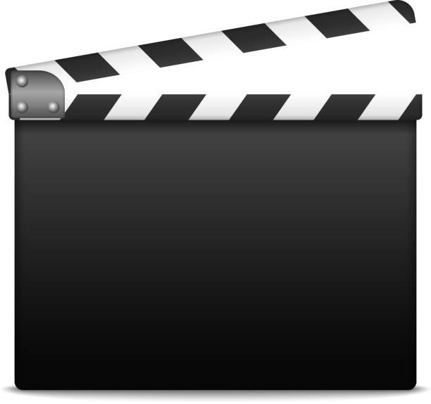 film slate clapboard clip art vector images illustrations istock