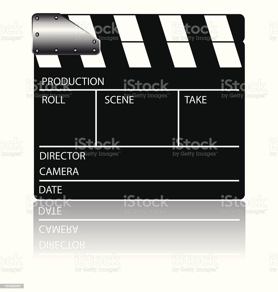 Clapperboard cinema royalty-free stock vector art