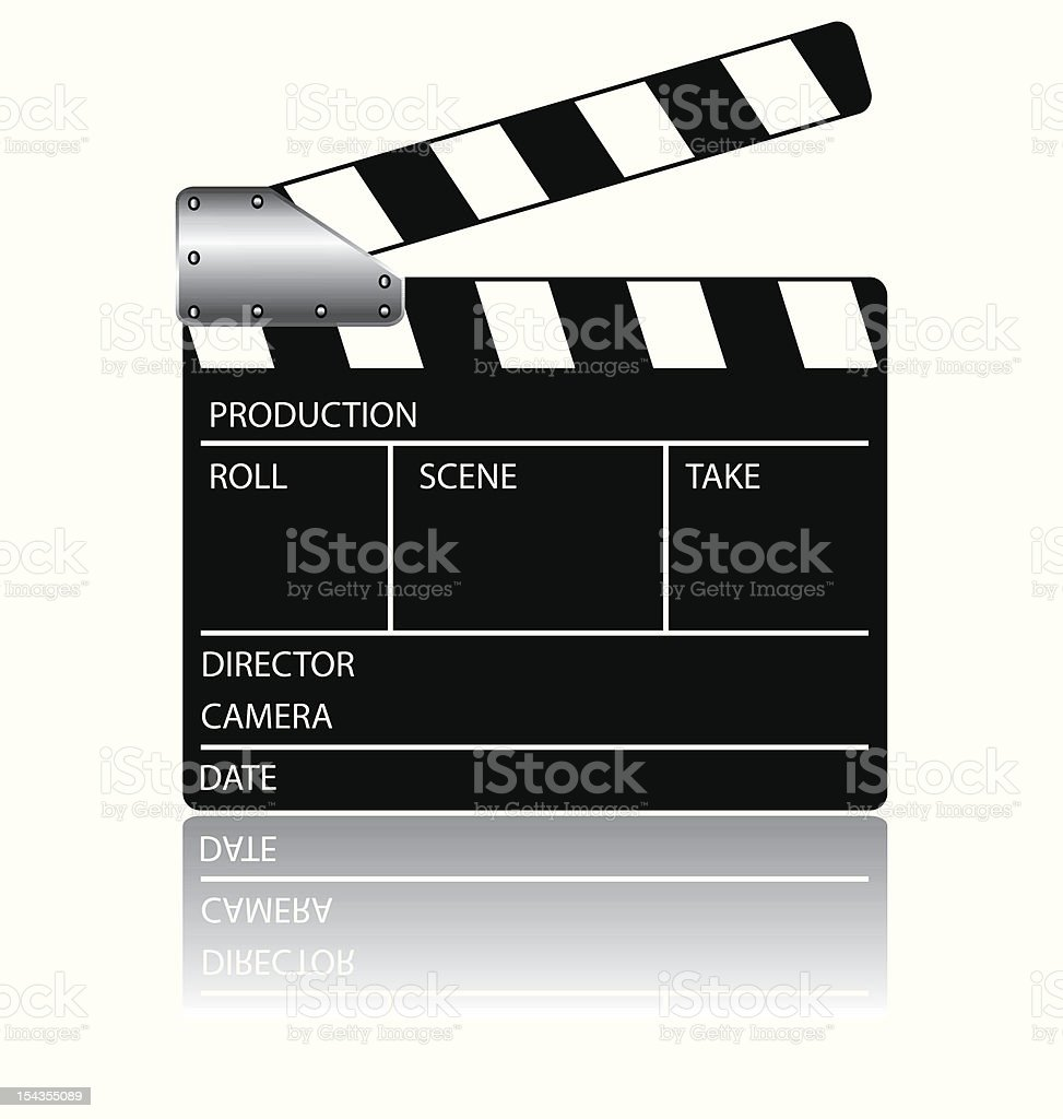 Clapperboard royalty-free stock vector art