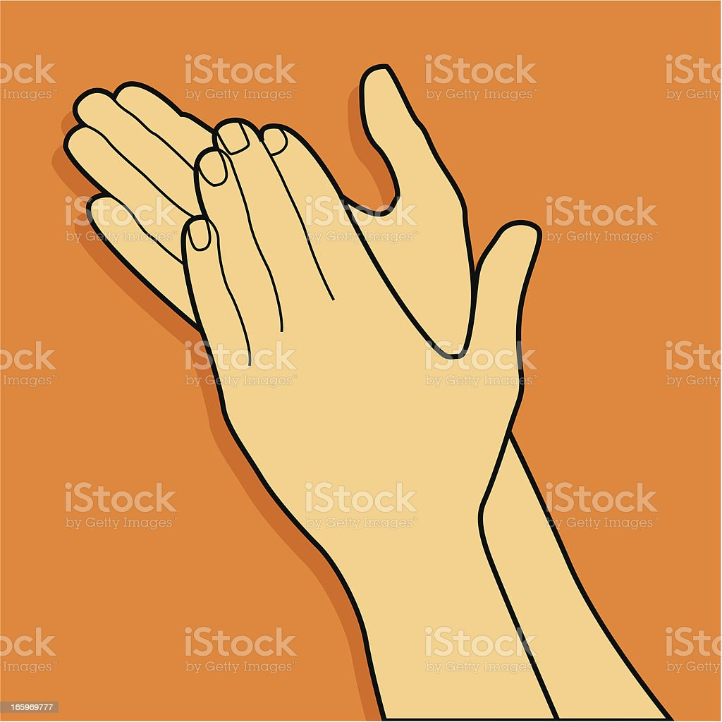 Clapping hands royalty-free stock vector art