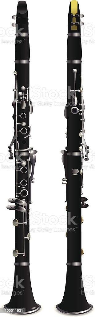 clarinet royalty-free stock vector art