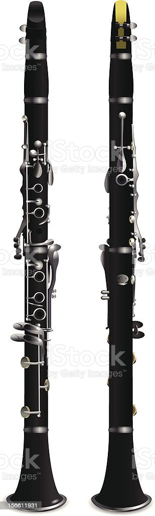 clarinet vector art illustration